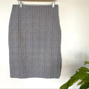 Banana Republic plaid pencil skirt